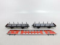 CR495-0,5# 2x Trix Express H0/DC/3L 20/72 Schienentransportwagen/Rungenwagen
