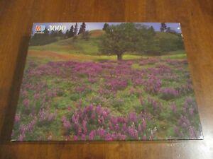 MB 1992 Milton Bradley 3000 Piece Puzzle~Hillside Near Lyle, WA~NEW Magnum 3000