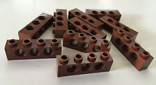 *NEW* 10 Pieces Lego REDDISH BROWN TECHNIC Brick 1x4 with 3 HOLES