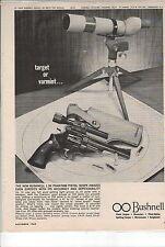Original 1962 Bushnell Magazine Ad - Target or Varmint