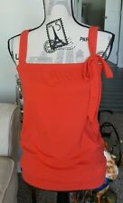 SZ M Juniors Eyeshadow Red Sleeveless Tank Top Shirt Bow