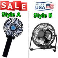 Style A Foldable USB Rechargeable Battery Fan / Stype B 4In USB Desk Table Fan