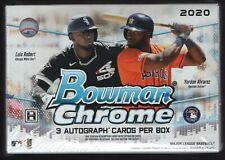IN STOCK 2020 Bowman Chrome Baseball Factory Sealed Hobby HTA CHOICE Box 3 AUTOS
