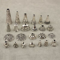 10x Tibetan Silver Alloy End Beads Caps Spacer Bead DIY Jewellery Craft Findings