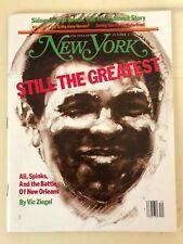 NEW YORK Magazine MUHAMMAD ALI vs Leon Spinks October 2, 1978 Boxing  NO LABEL