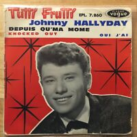 VINYLE / 45t / SINGLE : JOHNNY HALLYDAY - TUTTI FRUTTI - AVEC CENTREUR