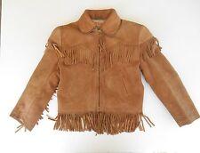 Vintage Roy Rogers Child's Leather Jacket Boy Western Cowboy Fringed