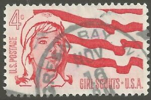 U.S. #1199 1962 4¢ Girl Scouts HAND STAMPED POSTMARK UNH