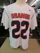 "New Nike Syracuse ""Orange"" Short Sleeve Lacrosse Team Jersey Mens L White 630548"