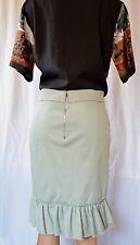 NINA RICCI Light Blue Back Ruffled Skirt Size 42