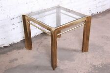 Mastercraft Mid-Century Hollywood Regency Brass and Glass Occasional Side Table