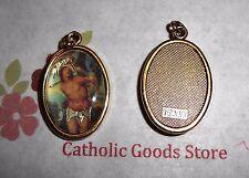 St. Saint Sebastian Italian 1 inch Gold Tone and Enameled - Medal