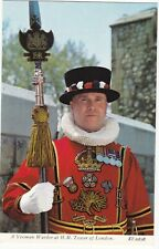 Yeoman Warder (Beefeater), Tower of London Postcard - c.1975 - Unposted