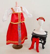BARBIE DOLL NEW ORIGINAL RUSSIAN DRESS HAT BOOTS CLOTHES ACCESSORIES
