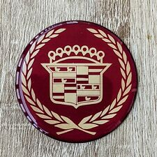 Burgundy Cadillac Wire Wheel Chips Emblems Decals Set Of 4 Size 225in
