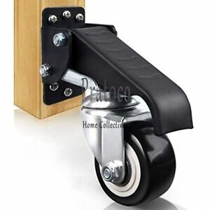 Feyue 4 PVC Heavy Duty 1600lbs Swivel Caster Wheels with Safety Dual Locking Casters Set of 4 with Brake