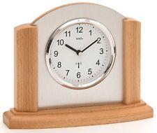 AMS -funk-tischuhr 17cm buche- 5123/18 moderne Horloge de table avec FUNKWERK,