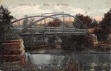 Anamosa Iowa~Bridge Over the Buffalo River~1908 PCK Series Postcard