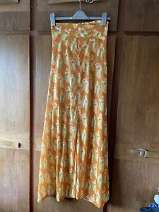 Genuine Vintage 70's Maxi Dress 6/8 Xs
