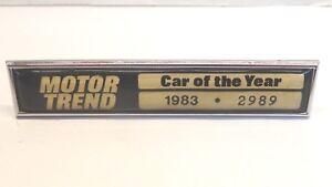 Vintage 1983 Motor Trend Car of Year Dash Trim Designation Renault Alliance 2-dr