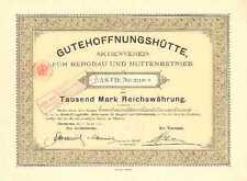 Buena esperanza cabaña Oberhausen Hist. acción 1907 GHH Haniel Duisburg M.A.N. NRW