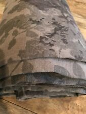 $349 Restoration Hardware Garment-Dyed Floral Linen Duvet F/Queen Graphite Gray