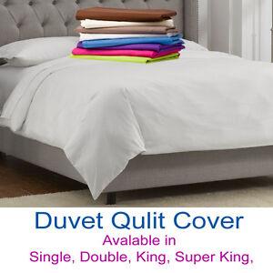 Duvet-Quilt Covers All Sizes Premium Quality available 24 Colors
