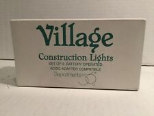 "Dept 56 Snow Village ""Construction Lights"" Mint In Box"