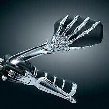 Skull Hand Side Mirrors For Kawasaki VN Vulcan Classic MeanStreak Nomad 1600