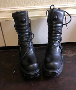 New Rock NR M.373 S18 Black - Boots, Oxido militar, Metallic, Unisex 42 US 9