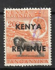 1954 K.U.T. Bft:2 20c. Orange & Black Revenue Overprint. Fine Used.