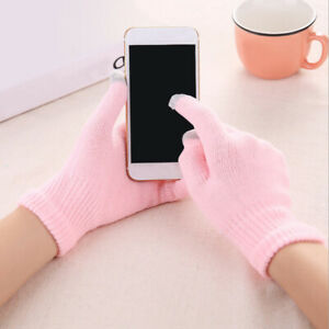 Keep Warm Unisex Cold Protection Touch Screen Gloves Knitting Winter Gloves CA