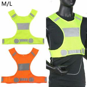 Hi Viz Reflective Running Cycling Vest Top High Visibility Men Women Children