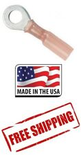 """(10 Pieces) 8 Gauge 3/8"""" 3M Heat Shrink Ring Terminal Made in USA 8 Ga 3/8 inch"""