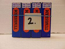 ECC808 (ECC83 different pinout) Tungsram NOS  Perfect Quad (4 stück) 2*
