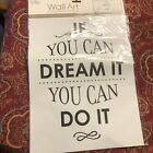 Wall Decal Quote Home Decor Dream
