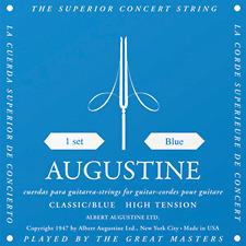 Blue Augustine Classical Guitar Strings, High Tension