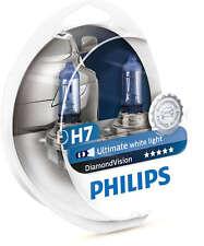 Philips Diamond Vision 5000K White 12V Headlight Bulbs H7 12972DVS2 Two Bulb
