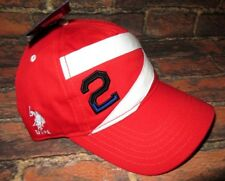 8faab2fa08c4 MENS U.S. POLO ASSN RED ADJUSTABLE HAT CAP ONE SIZE