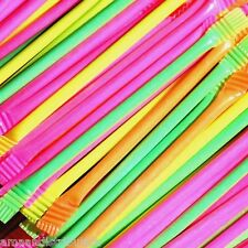 RETRO SWEETS SUGAR RAINBOW DUST SHERBET 50 X STRAWS PARTY BAG FILLERS GIFT
