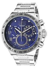Mens Invicta 15441 S1 Rally Swiss Chronograph Blue Dial Stainless Steel Watch