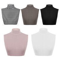 Fashion Women Girls Turtleneck Detachable Fake Collar Half Top Mock Blouse Cover