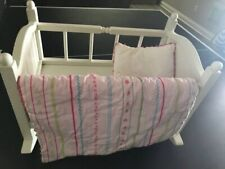 Pottery Barn Kids Retired Doll Cradle with All Original Bedding