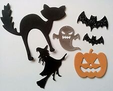 PACKS OF30 HALLOWEEN DIE CUTS 6 SHAPES CRAFTS CARDMAKING EMBELLISHMENTS TOPPERS