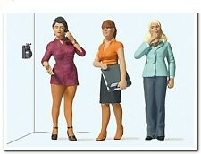 NEW ! Preiser G 1:22.5 scale THREE WOMEN WORKING in the OFFICE : FIGURES 44922