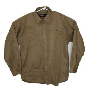 Jeese James Mens Large Workwear Shirt Brown 08