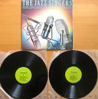 THE JAZZ SINGERS 2xLP Louis Armstrong Billie Holiday etc Gatefold Vinyl NM/VG