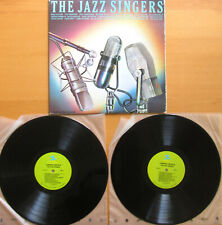 THE JAZZ SINGERS 2xLP Louis Armstrong Billie Holiday etc Gatefold Vinyl NM/VG