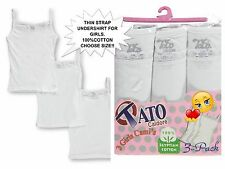 New Girls' Toddler/Youth 3-Pack Camisoles/Undershirt/Sleep Wear/100% Cotton/SALE