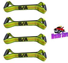 (4) BA Products 38-200-S Sewn Eye Short Strap Rollback TieDown Flatbed tow truck